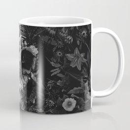 Garden Skull Dark B&W Coffee Mug