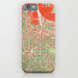 New Delhi map classic iPhone Case