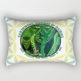 Pastel Petals Garden Gnome Fairy Flower of Life Rectangular Pillow