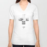 cross V-neck T-shirts featuring Cross by Anna Pietrzak