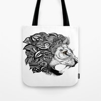 leon Tote Bags featuring Leon by Artful Schemes