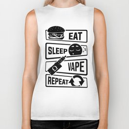 Eat Sleep Vape Repeat - Vaping E-Cigarette Vaper Biker Tank