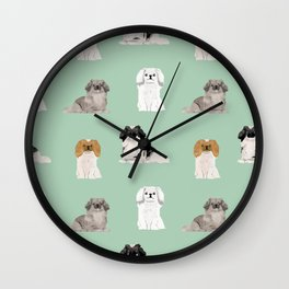 Pekingese dog breed gifts unique dogs pet friendly pet portraits Wall Clock