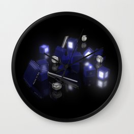 Building Blocks of Space Time Travel Wall Clock