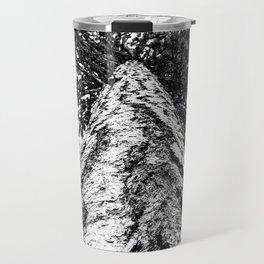 Squirrel View // Climbing Tall Tree Trunks // Winter Landscape Snowy Decor Photography Travel Mug