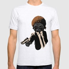 Pugly Ash Grey LARGE Mens Fitted Tee