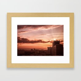 Dawn in the city V2 Framed Art Print