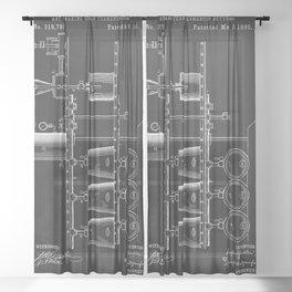 Beer Whisky Still Distillery Patent Sheer Curtain