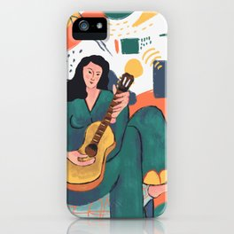 In The Mood For Music iPhone Case