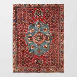 Bidjar Antique Kurdish Northwest Persian Rug Print Poster