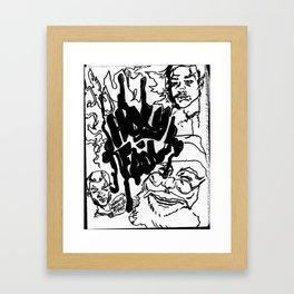 Holy Fool// Framed Art Print