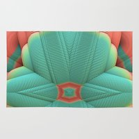 deco Area & Throw Rugs featuring Miami Deco by Lyle Hatch