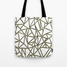 Ab Blocks White Gold Tote Bag