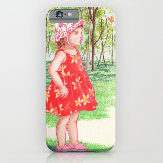 Little Miss Butterfly iPhone & iPod Case