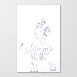 Stammi Vicino pair skating Canvas Print