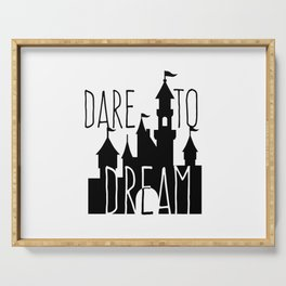 Dare to Dream Fantasy Castle Silhouette Serving Tray