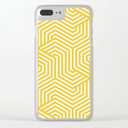 Saffron - yellow - Minimal Vector Seamless Pattern Clear iPhone Case