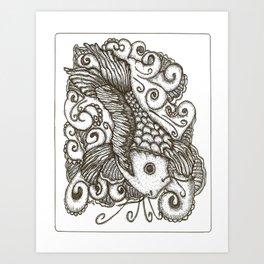 Sharpie Fish Art Print