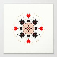 Cat Mandala 1 Canvas Print