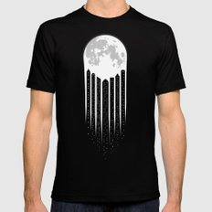 Moon-City 2X-LARGE Black Mens Fitted Tee