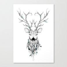 Poetic Deer Canvas Print