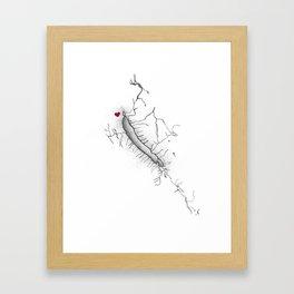 Otisco Lake Home Framed Art Print