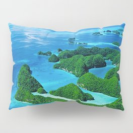 Breathtaking Palau Tropical Islands From the Eyes of Angels Pillow Sham