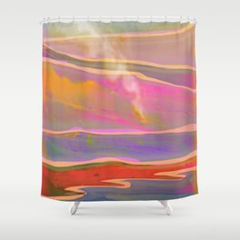Adventure in the Volcanic Lands - Fumarole Shower Curtain
