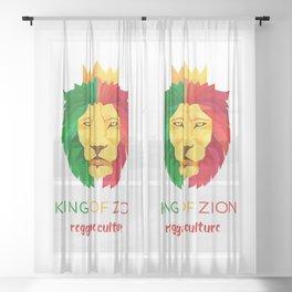 Reggae Lion Zion Sheer Curtain