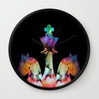 chess Wall Clocks featuring Chess by Caio Trindade