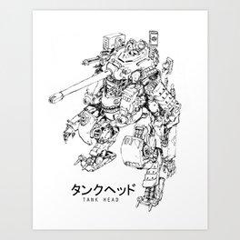 TankHead (Lineart)  Art Print