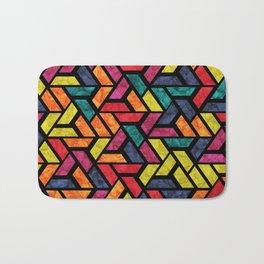 Seamless Colorful Geometric Pattern XI Bath Mat