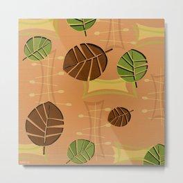 Tiki Bar Wallpaper Pattern Metal Print