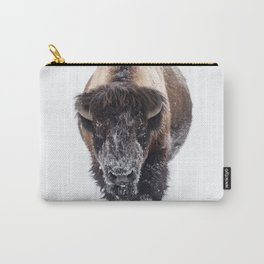 Yellowstone National Park: Lone Bull Bison Carry-All Pouch