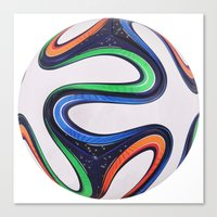 world cup Canvas Prints featuring World Cup 2014 by LCPCS