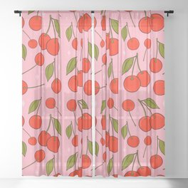 Cherries on Top Sheer Curtain