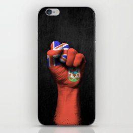 Bermuda Flag on a Raised Clenched Fist iPhone Skin