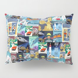 Tomorrowland Vintage Attraction Posters Pillow Sham