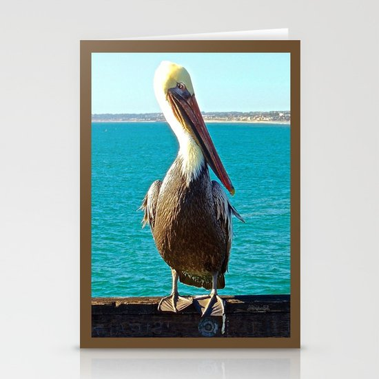 Portrait of a Perky Pelican Stationery Cards