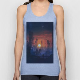 Barcelona Smoke & Neons: The End Unisex Tank Top