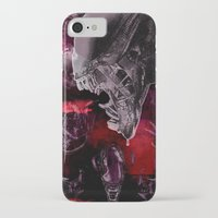 "xenomorph iPhone & iPod Cases featuring Alien Xenomorph ""Xenomorphobia"" by judgehydrogen"