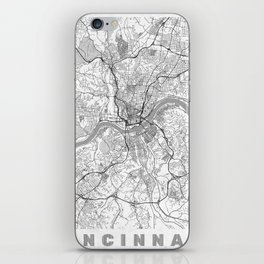 Cincinnati Map Line iPhone Skin