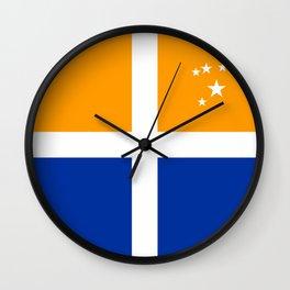 Scillonian cross flag united kingdom region symbol Wall Clock