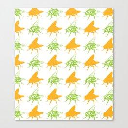 Pretty Flies Pattern Canvas Print