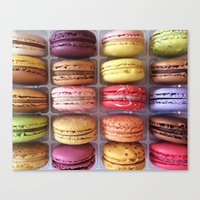 macarons Canvas Prints featuring Macarons  by Laura Ruth