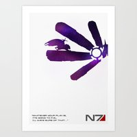 mass effect Art Prints featuring Mass Effect 1 by Fabio Castro