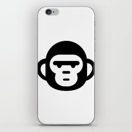 The grumpiest monkey. iPhone Skin