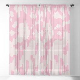 Modern Abstract Ikat Pink P  #homedecor Sheer Curtain