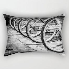 Bike / Black and White / Photography Rectangular Pillow