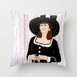 Miss Vida Throw Pillow